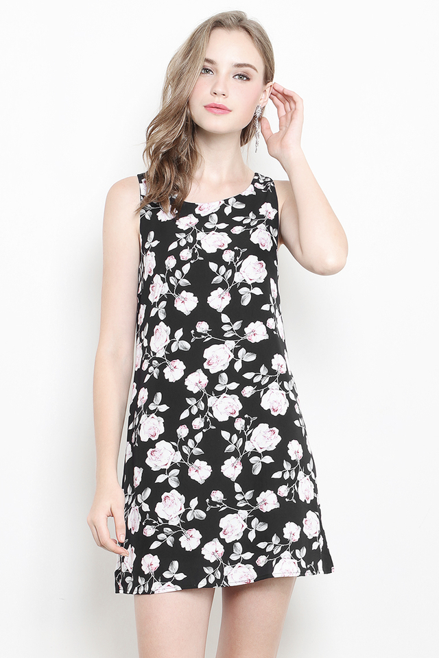 Dorla Dress Black Floral