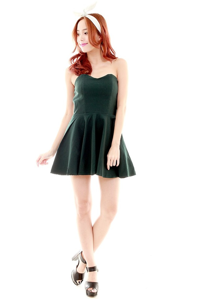 Chasey Tube Dress (Forest Green)