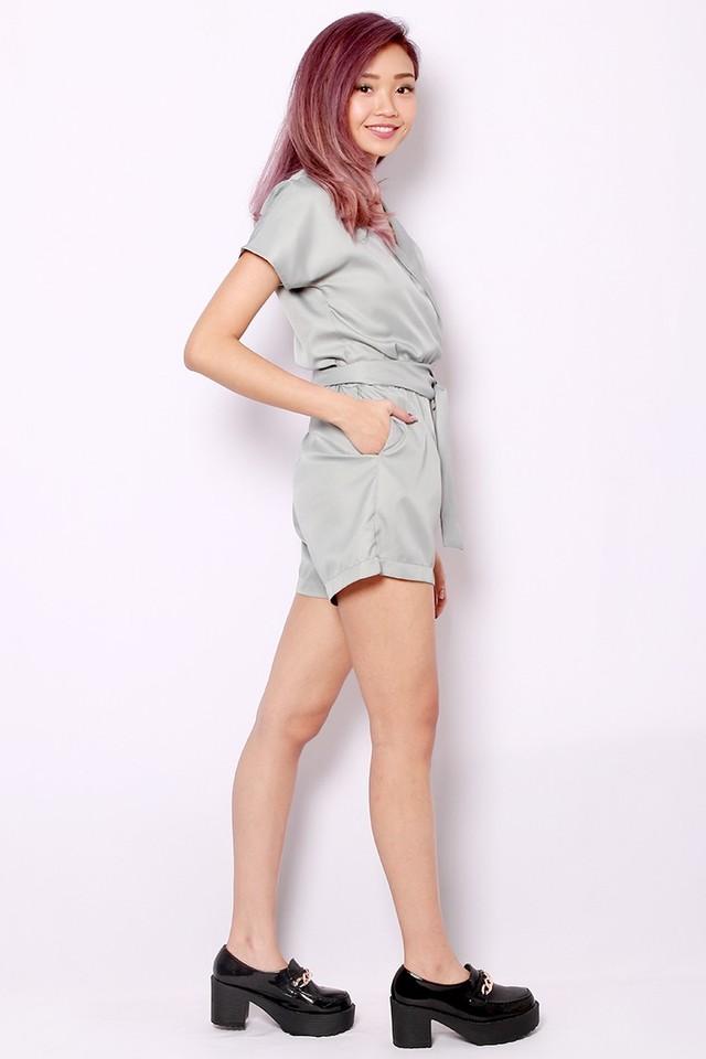 SSD Earlene Kimono Romper (Grey)