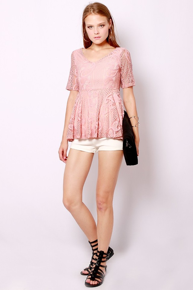 SSD Heydah Lace Top Dusty Pink
