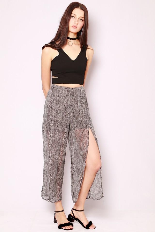 SSD Beatrice Slit Pants Stripes