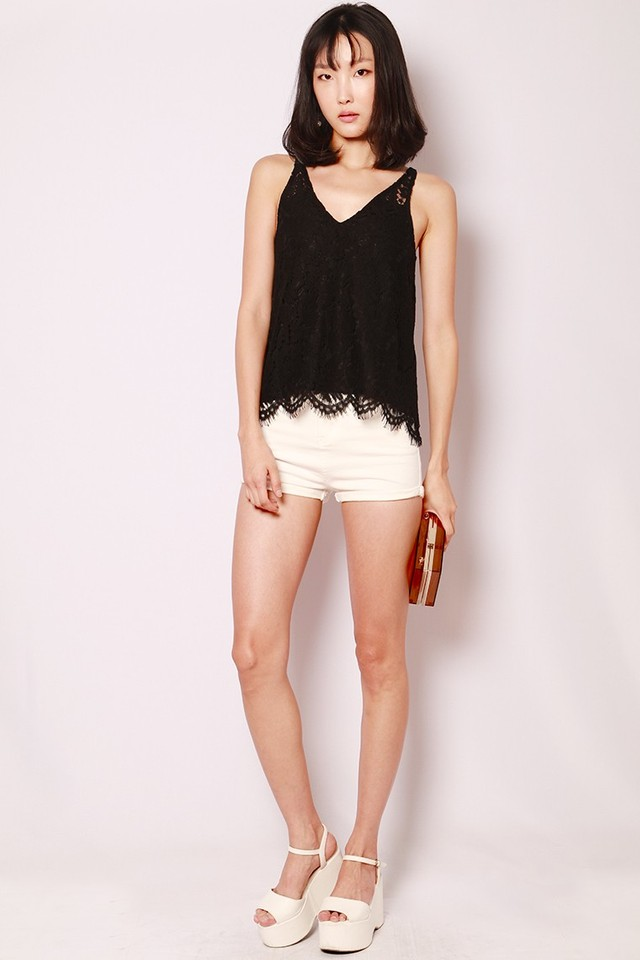 SSD Layla Lace Top Black