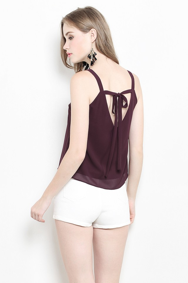 Malory Top Burgundy