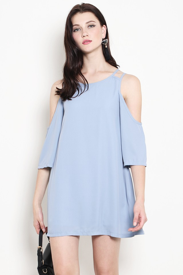Brina Dress Dusty Blue