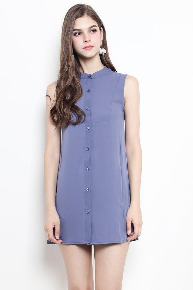 Jordyn Shirtdress Ash Blue