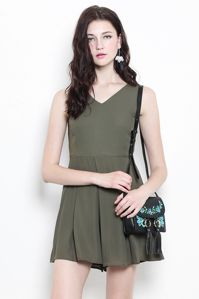 Korina Playsuit Olive