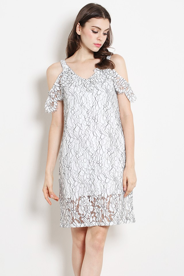 Eliza Lace Dress White