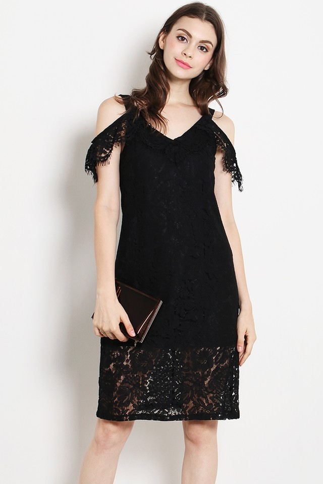 Eliza Lace Dress Black