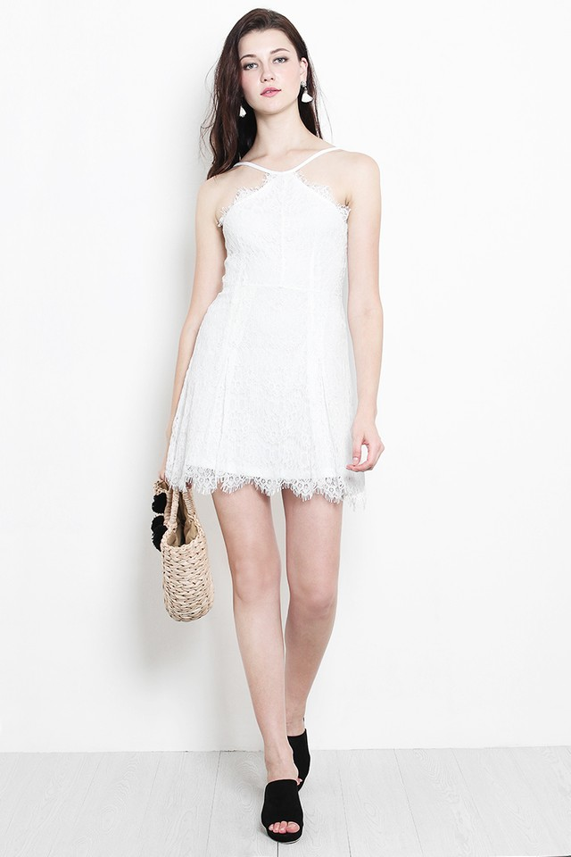 Keri Lace Dress White