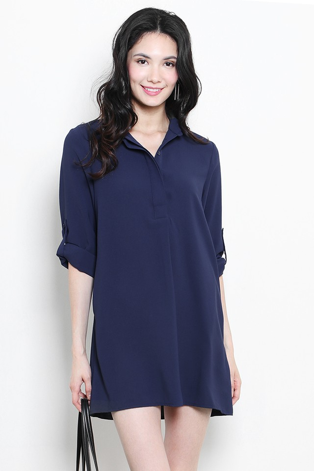 Ondine Shirtdress Navy