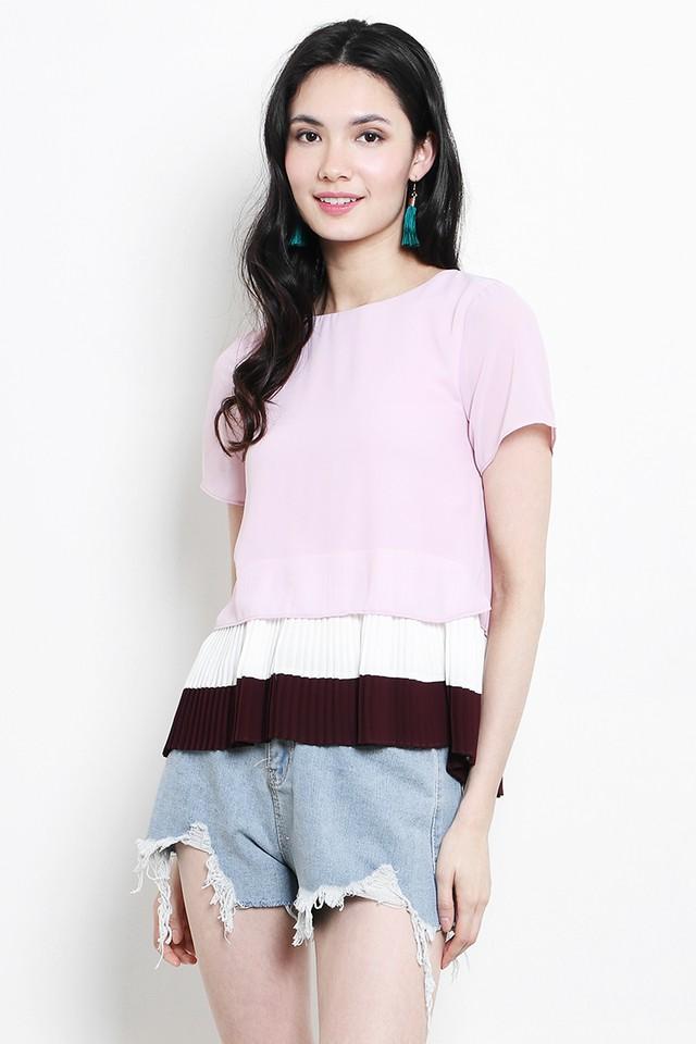 Sherri Colourblock Top Pink