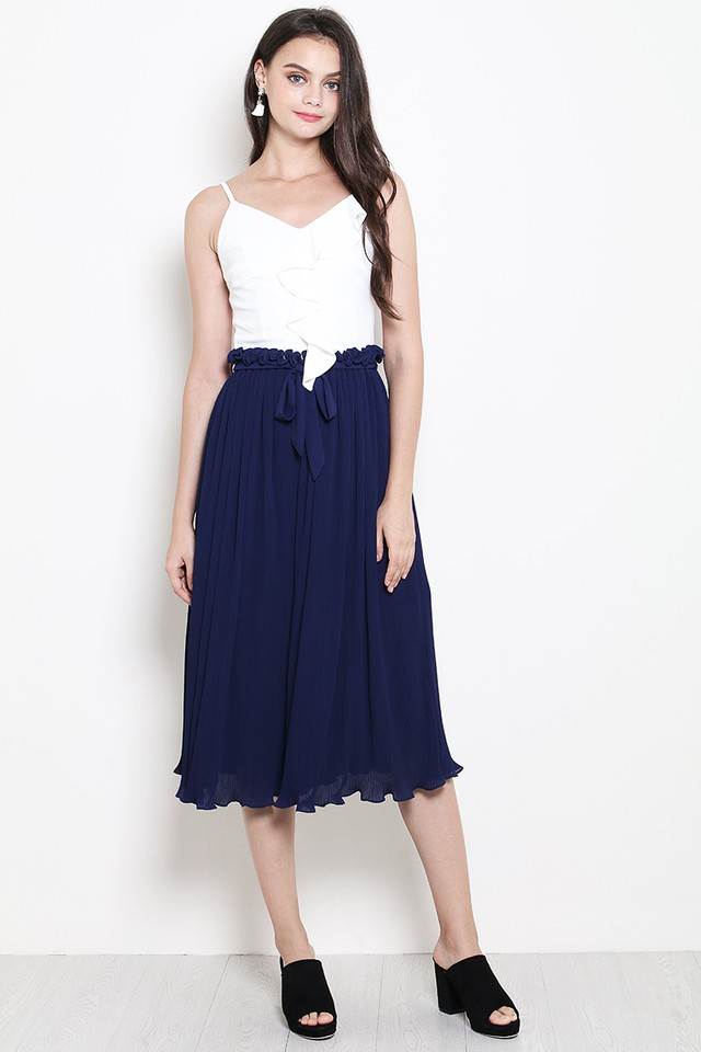 Kat Pleat Culottes Navy