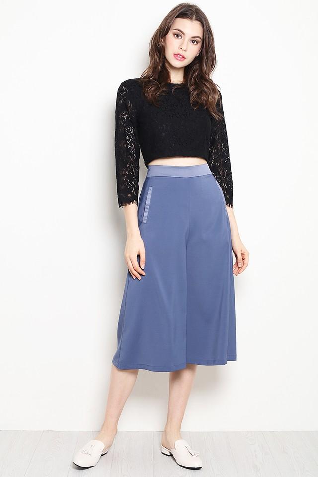 Blythe Culottes Grey Blue
