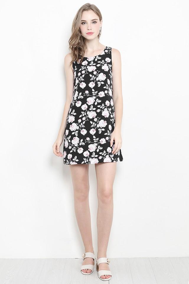 Dorla Dress Black Floral