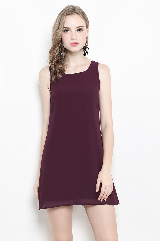 Dorla Dress Burgundy